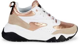 Roberto Cavalli Sport Metallic-Accent Chunky Sneakers