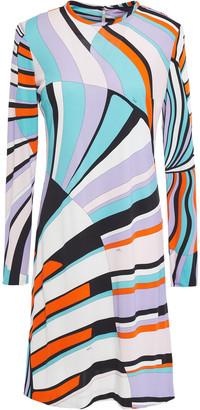 Emilio Pucci Printed Jersey Mini Dress