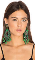 Ranjana Khan Chandelier Earring in Green.