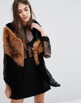 Urban Code Urbancode Spliced Long Faux Fur Scarf