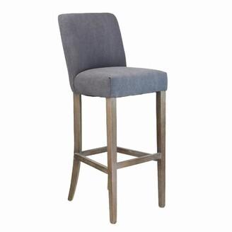 """Laurel Foundry Modern Farmhouse Mohammed Counter & Bar Stool Seat Height: Counter Stool (25.25"""" Seat Height), Upholstery: Gray"""