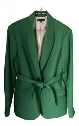 soeur Green Wool Jacket for Women