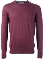 Brunello Cucinelli crew neck fine knit jumper