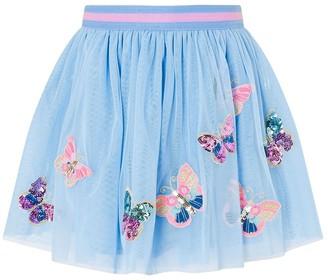Monsoon Disco Butterfly Skirt Blue