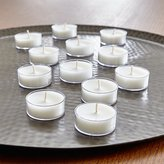 Crate & Barrel Set of 12 White Clear-Cupped Tea Lights