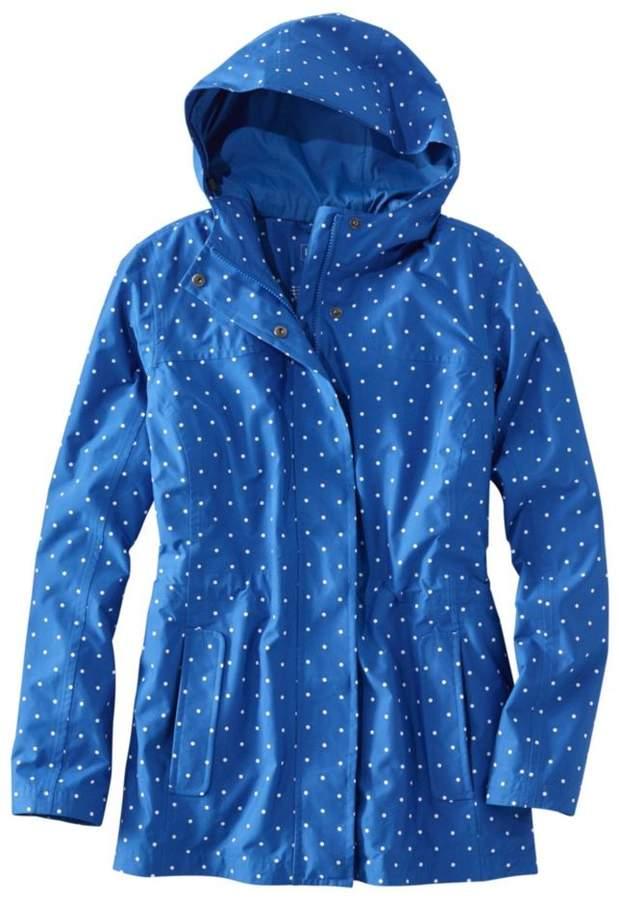 L.L.Bean Women`s H2OFF Rain PrimaLoft Lined Jacket- Print