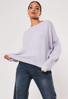 Missguided Lilac Extreme Wide Sleeve Jumper