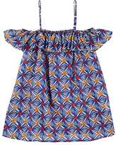 Milly MOSAIC-PRINT COTTON COVER-UP DRESS