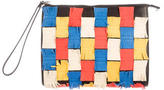 Marni Multicolor Fringe-Patch Clutch