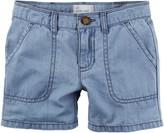 Carter's Little Girls Chambray Shorts