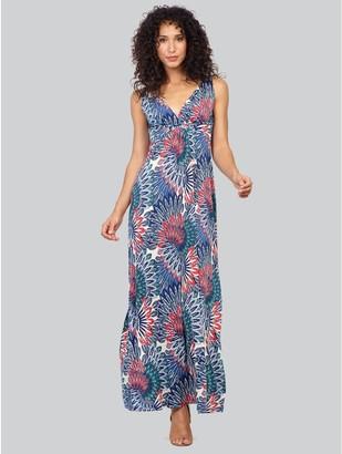 M&Co Izabel peacock print maxi dress