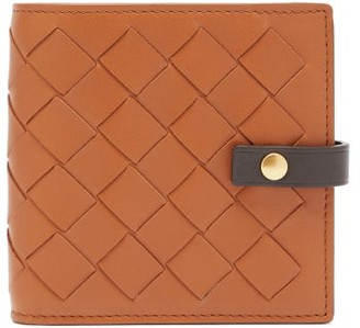 Bottega Veneta Intrecciato Leather Wallet - Womens - Tan Multi