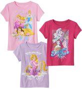 Disney Princess Toddler Girl 3-pk. Short Sleeve Tees