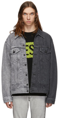 Diesel Grey Denim D-Poll Jacket