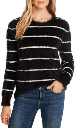 Cece By Cynthia Steffe Stripe Eyelash Sweater