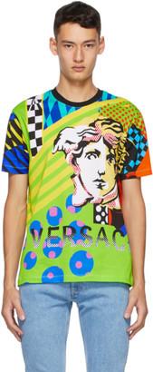 Versace Multicolor Collage Pop Temple Taylor T-Shirt