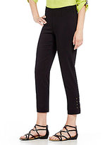 Multiples Petites Pull-On Solid Ankle Pants