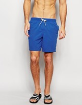 Asos Swim Shorts In Blue Mid Length