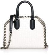 Stella McCartney White Croc Falabella Box Mini Bag