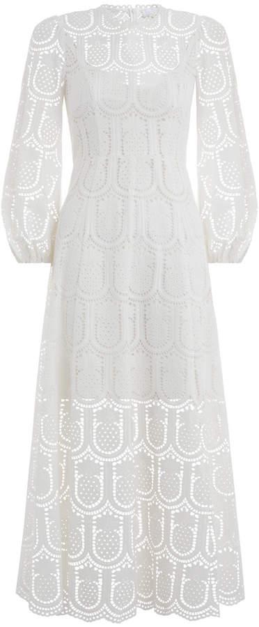 Zimmermann Wayfarer Embroidery Long Dress