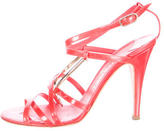 Chanel Patent Leather Bangle Sandals