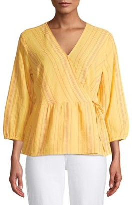 Time and Tru Women's Wrap Top