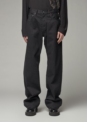 Yohji Yamamoto Men's Sports Denim Pants in Black Size 2 100% Cotton
