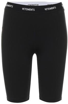 Vetements Jersey biker shorts