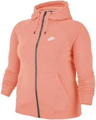 Nike Essential Full-Zip Cotton Blend Fleece Hoodie