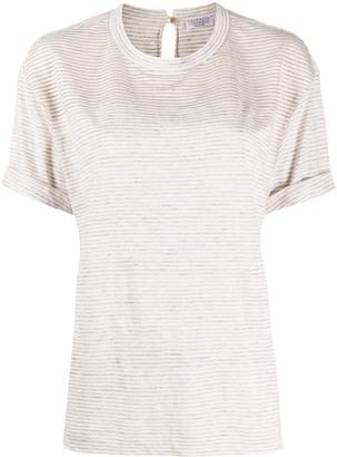 Brunello Cucinelli monili-embellished striped T-shirt