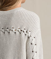 AllSaints Aria Laced Short Sweater