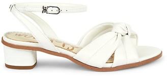 Sam Edelman Ingrid Leather Ankle Block-Heel Sandals