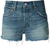 Levi's frayed denim shorts - women - Cotton - 25