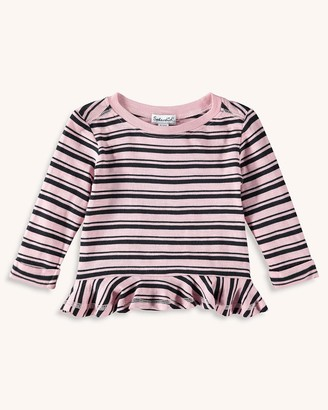 Splendid Baby Girl Stripe Tee with Ruffle