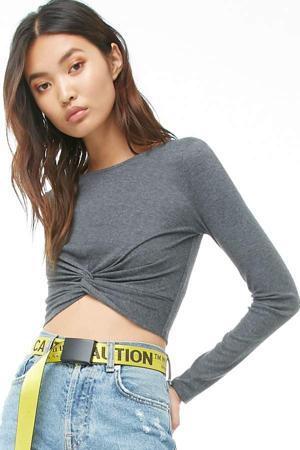 Forever 21 Twist-Front Crop Top