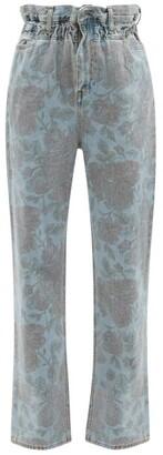 Ganni X Levi's Floral-print Straight-leg Jeans - Denim Multi