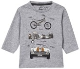Mayoral Grey Racing Car and Bike Print Tee