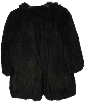 Theory Black Fox Coat for Women