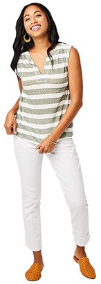 Carve Designs Nicole Top (Moss Stripe) Women's T Shirt