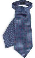 Forzieri Two Tone Mini Squares Print Silk Tie Ascot