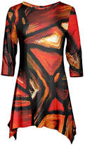 Azalea Red & Black Abstract Sidetail Tunic - Plus Too