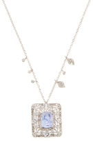 Meira T 14K White Gold, Tanzanite & 0.78 Total Ct. Diamond Pendant Necklace