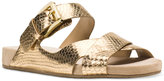 MICHAEL Michael Kors Sawyer Metallic Strappy Slide Sandals