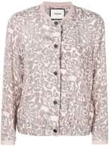 Max & Moi leopard print bomber jacket