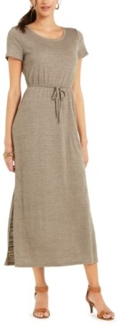 Style&Co. Style & Co Plus Size Textured Drawstring Maxi Dress, Created for Macy's