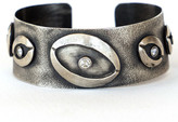 Irit Design - Sterling Silver and Diamond Cuff with Eye Motif