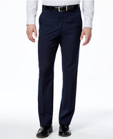 Alfani Men's Traveler Navy Solid Slim-Fit Pants, Only at Macy's
