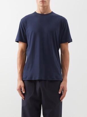 Sunspel Sea Island Cotton-jersey T-shirt - Navy