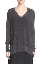 ATM Anthony Thomas Melillo Women's Open Gauge V-Neck Sweater