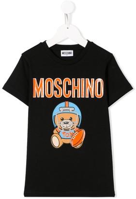 MOSCHINO BAMBINO teddy footballer print T-shirt